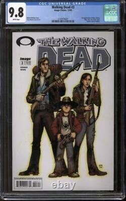 Walking Dead #3 CGC 9.8 (W) 1st appearance of Dale Amy Sophia Billy Ben