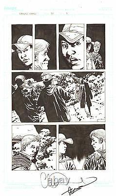 Walking Dead #81 p. 9 Rick and Carl 2010 Signed art by Charlie Adlard
