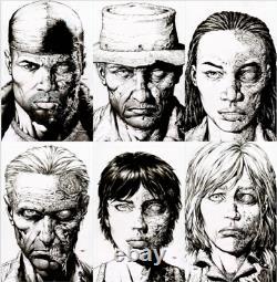 Walking Dead Deluxe #7 8 9 10 11 12 125 Raw Sketch 2nd Print Variant Set (nm)