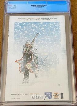 Walking Dead Deluxe #7 Cgc 9.8 Finch Sketch Live Exclusive Skybound Image 1/200