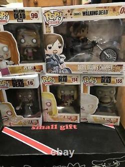 Walking Dead Funko Pop Lot of 5 08 Bicycle Girl Teddy Bear Well Walker Penny