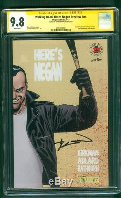 Walking Dead Here's Negan Preview CGC SS 9.8 Kirkman 2017 Wraparound Cover