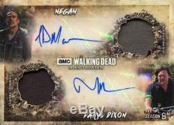 Walking Dead Season 8 Dual Autograph Dual Relic Card Morgan & Norman Reedus