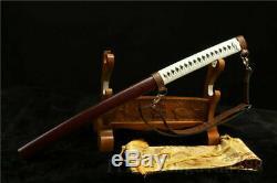 Walking Dead Sword-Michonne's Katana Zombie Killer Damascus Folded Steel Sword