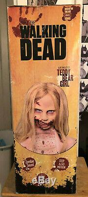 Walking Dead Teddy Bear Girl 5 Foot Animatronic Life Size Zombie Doll New Sealed