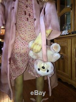 Walking Dead Teddy Bear Girl 5 Foot Tall Animatronic Spirit Halloween