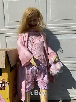 Walking Dead Teddy Bear Girl Life Size Tall Animatronic Spirit Halloween