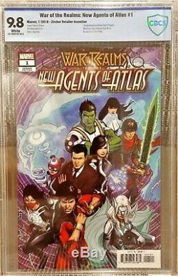 War of the Realms New Agents of Atlas #1, CBCS 9.8 NM/M 150 Zircher Variant
