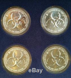 ZOMBUCKS Complete Set 10-1 oz 999 Silver Walker 2 Saint Walking Dead Collection