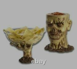 Zombie Chip Dip Bowl Halloween Party Prop For Serving Food Walking Dead Spirit