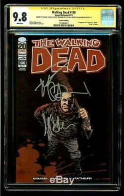 # 100 Morts-vivants Cgc 9.8 Ss X3 Signe Adlard Kirkman Morgan 2 Imprimer Negan