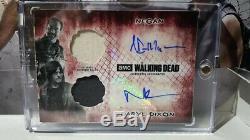 1/1 The Walking Dead Topps Negan Darryl Double Automatique Et Une Armoire Relic Un One