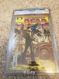 # 1 Walking Dead 9.4 Cgc 1er Print 1er Rick Grimes! Kirkman Comic Lettres Noir