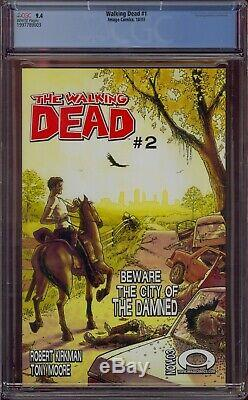 # 1 Walking Dead Cgc 9.4 1er Print 2003 1er Rick, Lori, Carl Kirkman Comic Kings