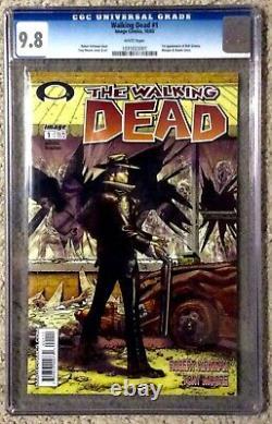 2003 The Walking Dead #1 Black Mature Étiquette Retire Cgc 9,8 Est 2 000 Impressions
