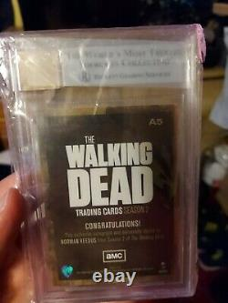 2012 The Walking Dead Saison 2 #a5 Norman Reedus Auto