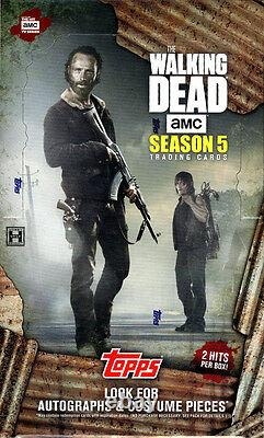 2016 Topps The Walking Dead Saison 5 Trading Card Hobby Box Factory Scelled New