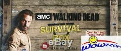 2016 Topps The Walking Dead Survival Scellé En Usine Hobby Box-4 Hits