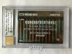 2017 La Carte Autographe Walking Dead Evolution Jeffrey Dean Morgan #11/99 Bgs 9