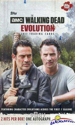 2017 Topps The Walking Dead Evolution 8 Boîte Étanche Hobby Case-16 Hits-8 Auto