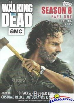 2018 Amc The Walking Topps Dead Season 8 Scellé 16 Box Blaster Case-16 Hit