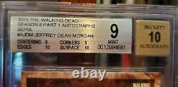 2018 Topps The Walking Dead Jeffrey Dean Morgan #03/10 Sepia Auto Sp Beckett 9
