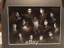 29 Autographes Sur Oeuvre D'art Limited Edition (1 Sur 20) Pour The Walking Dead