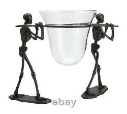 2pc Pottery Barn Walking Dead Serve Bowl Set Nouveau Halloween Gothique Stand & Bowl