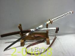 41inch Walking Dead Samurai Katana Sword-michonne 1095 Bataille En Acier Prêt-010