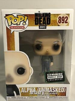 Alpha (démasqué) 892 Pop The Walking Dead Supply Drop Exclusif Avec Protector