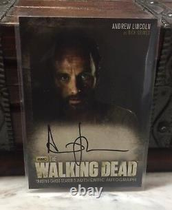 Andrew Lincoln Rick Grimes 2013 Cryptozoïque La Carte Autographe Walking Dead A1 S3