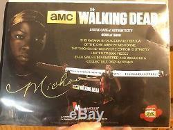 Autographié The Walking Dead Michonne Replica Katana Épée