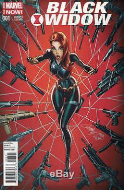 Black Widow # 1 150 J Variété De Couleur Scott Campbell Marvel Anmn 2014