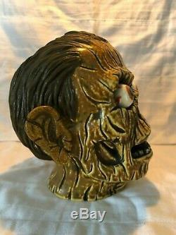 Brûlé Zombie Skull Tiki Mugmunktiki6 / 100 Ferme Film Walking Dead Head Horror