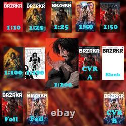 Brzrkr #1 Précommandé 13 Couvre 1200, 1100 (x2), 150 (x2), 125 (x2), 110, Et Plus