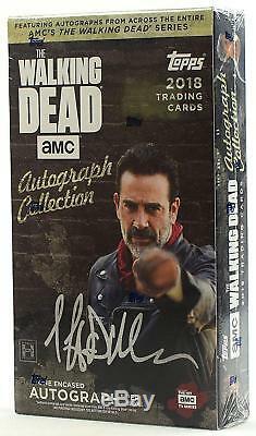 Caisse De 20 Boîtes Hobby De La Collection D'autographes Walking Dead (au-dessus De 2018)