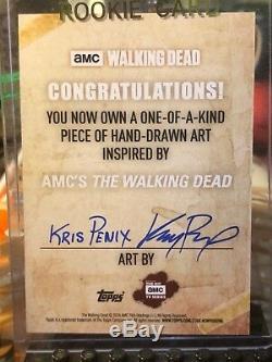 Carte D'esquisse Topps The Walking Dead, 1/1 Maggie De Kris Penix