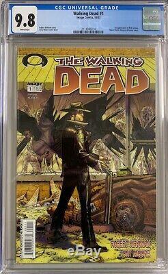 Cgc 9.8 Dead # 1 Walking 1er App Rick Grimes Image Comics 2003