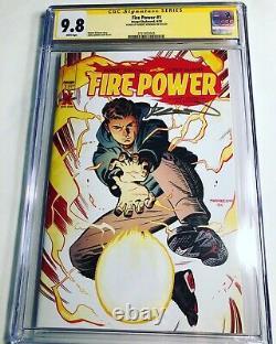 Cgc 9,8 Ss Fire Power #1 Signé Par Robert Kirkman Image/skybound Walking Dead