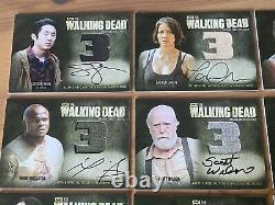 Cryptozoïque Le Walking Dead Saison 3 Partie 1 Et 2 Armoire Autographe Ensemble Complet