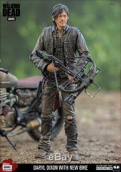 Daryl Dixon Personnalisé New Bike Motorrad The Walking Dead Action Figur Mcfarlane