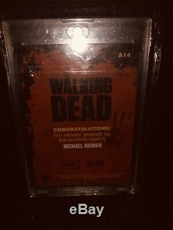 Dead Season 1 Walking Merle Dixon / Michael Rooker Rare Auto