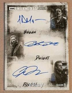 Dead Season 8 Walking Triple Autograph Morgan, Mcdermitt, Amelio / Negan, Dwight