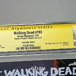 Débat De Walking 193 Cgc 9.8 Ss Sdcc Variante Dernière Édition Signé Robert Kirkman Twd