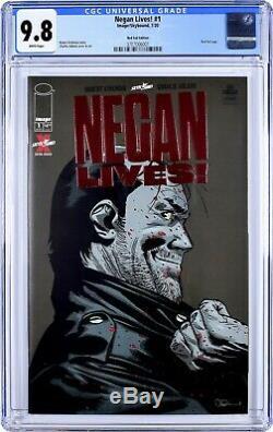 Expédié Aujourd'hui Negan Lives Feuille Rouge Cgc 9.8 The Walking Dead