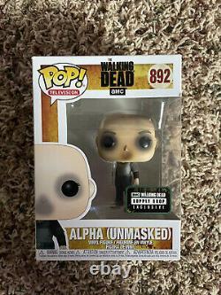Funko Pop Alpha The Walking Dead Unmasked Supply Drop Exclusif