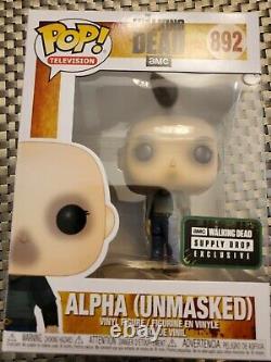 Funko Pop! Le Walking Dead Alpha (non Masqué) #892 Exclusivité De La Goutte D'approvisionnement