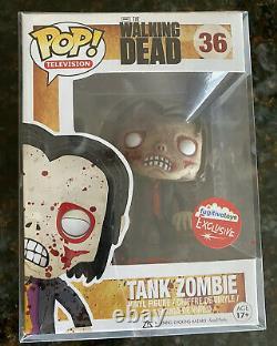 Funko Pop! Les Jouets Fugitifs Walk Dead Tank Zombie Exclusive #36- Rare