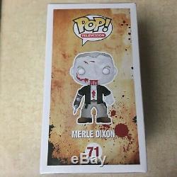 Funko Pop The Walking Dead 71 Merle Dixon Zombie In Soft Protector