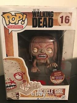 Funko Pop The Walking Dead Bloody Px Limited Edition Bicycle Girl #16 1000 Pcs